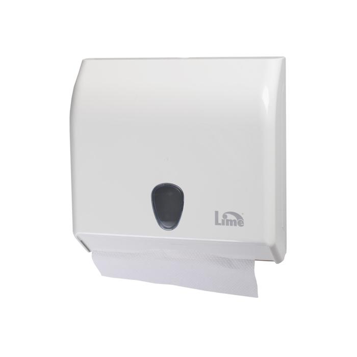 Диспенсер для бумажных полотенец Lime Prestige, V-укладка, белый фото