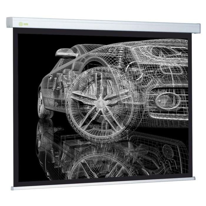 Экран Cactus 206x274 Wallscreen CS-PSW-206x274 4:3, настенно-потолочный, рулонный фото