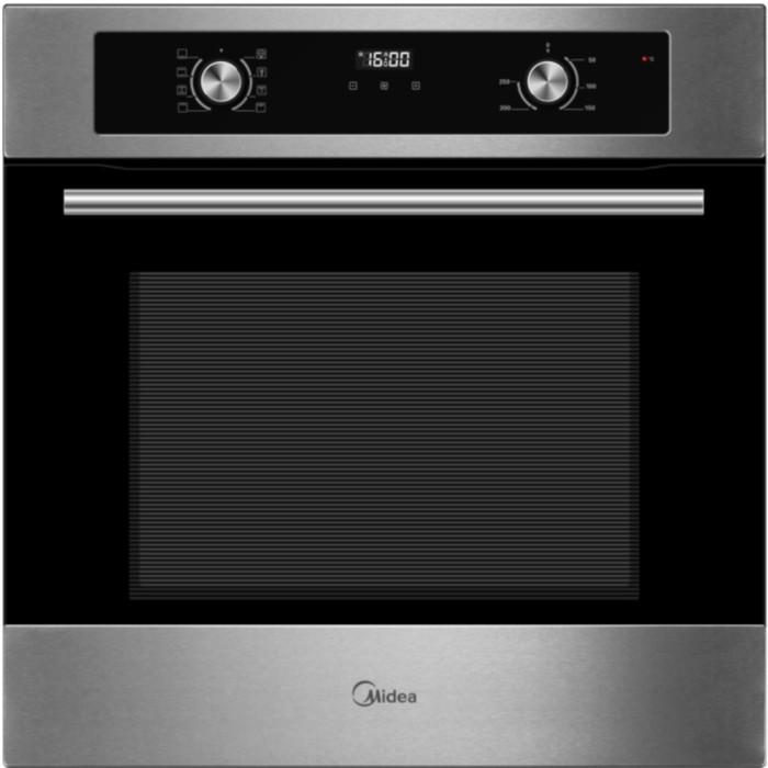 Духовой шкаф Midea MO 670A4 X, электрический, 70 л, 8 режимов, черный/серебристый фото