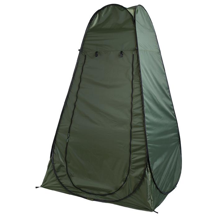 Палатка туристическая, самораскрывающаяся для душа 120х120х195 см, цвет зеленый фото