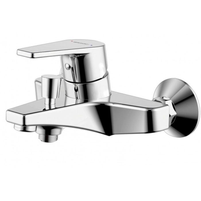 Смеситель для ванны и душа BRAVAT LINE 7F65299C-B, с коротким изливом и душевой лейкой фото