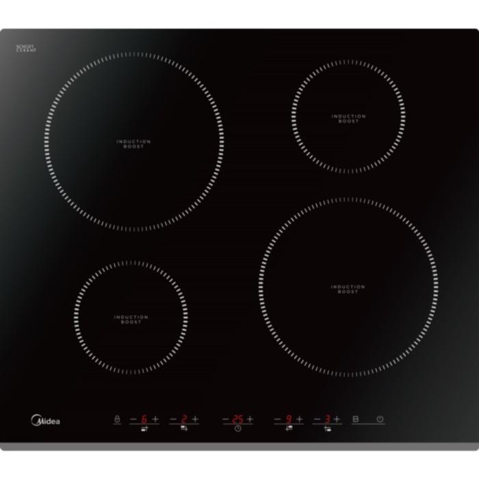 Варочная поверхность Midea MIH64516F, индукционная, 4 конфорки, черный фото