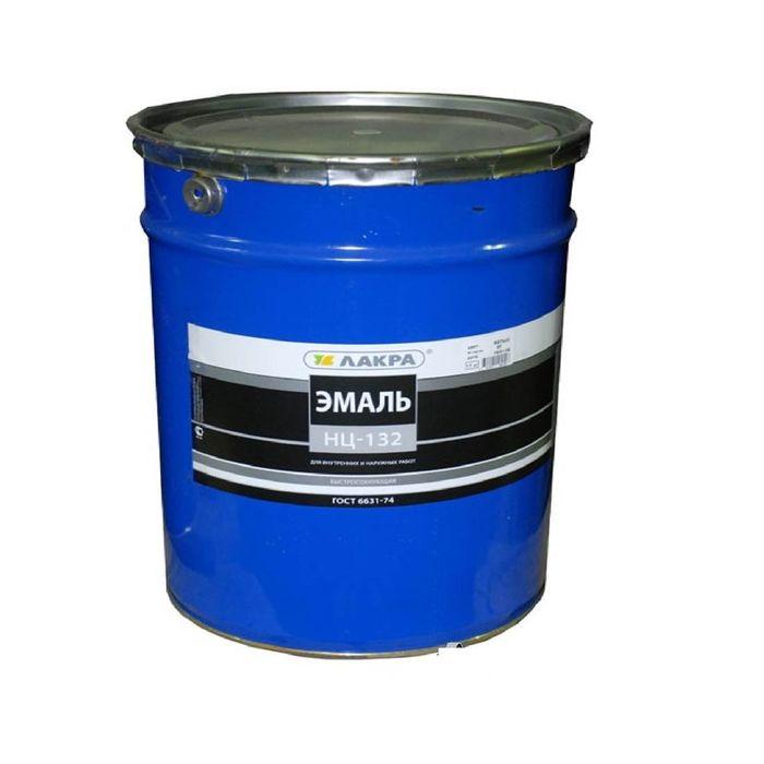 Эмаль НЦ-132 для внутренних и наружных работ, синяя, 17 кг фото