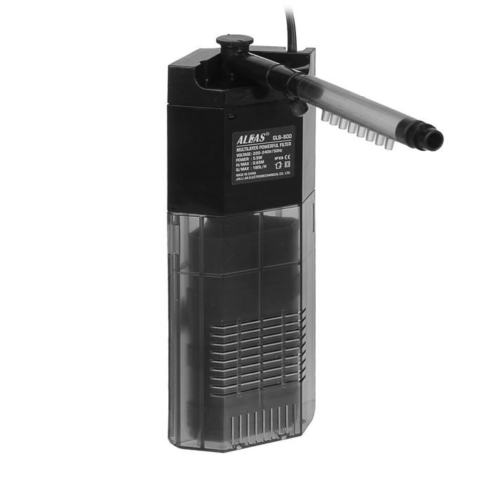 Внутренний фильтр Aleas угловой с флейтой 180 л/ч GLB-800B фото