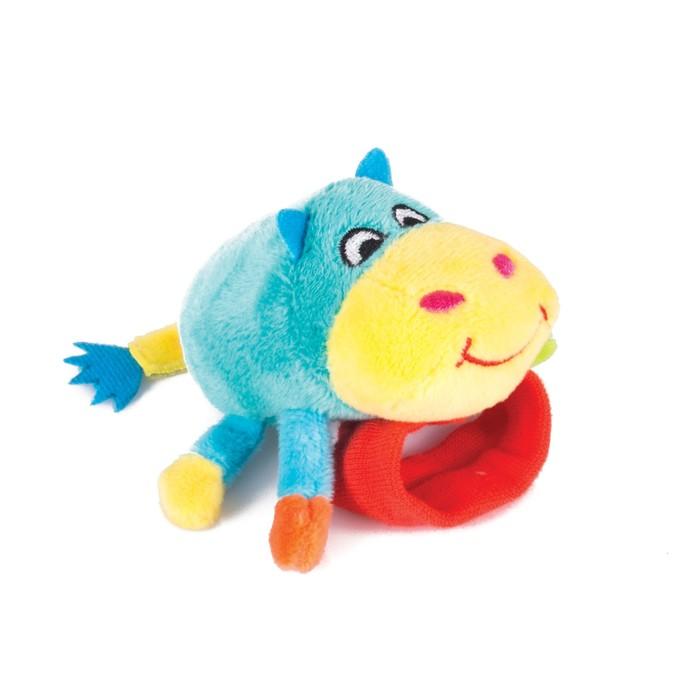 Игрушка-погремушка на ручку «Бегемот Бубба» Happy Snail фото