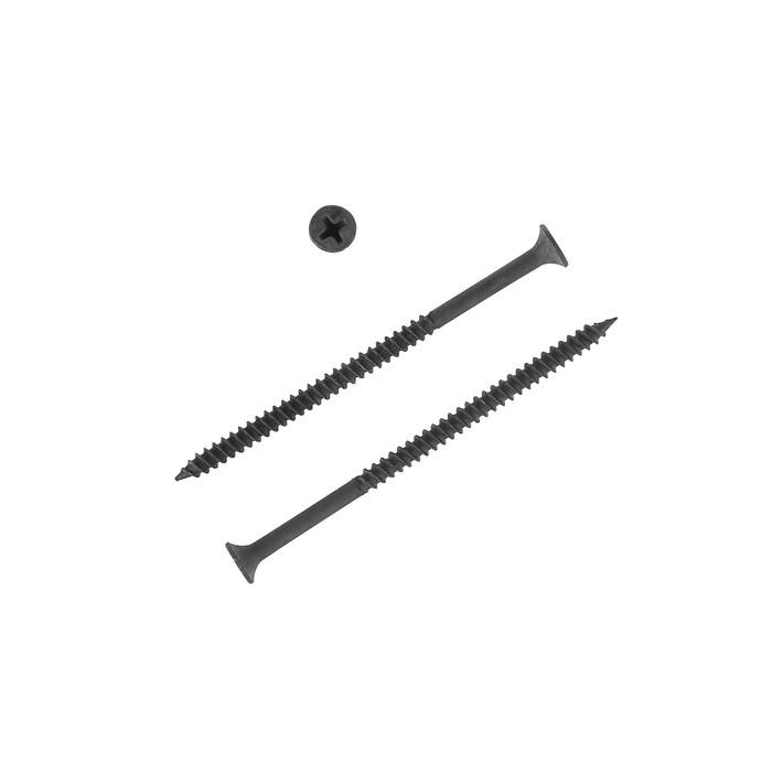 Саморезы по металлу НЛМК, 4.2х76 мм, оксид, частый шаг, 10 кг фото