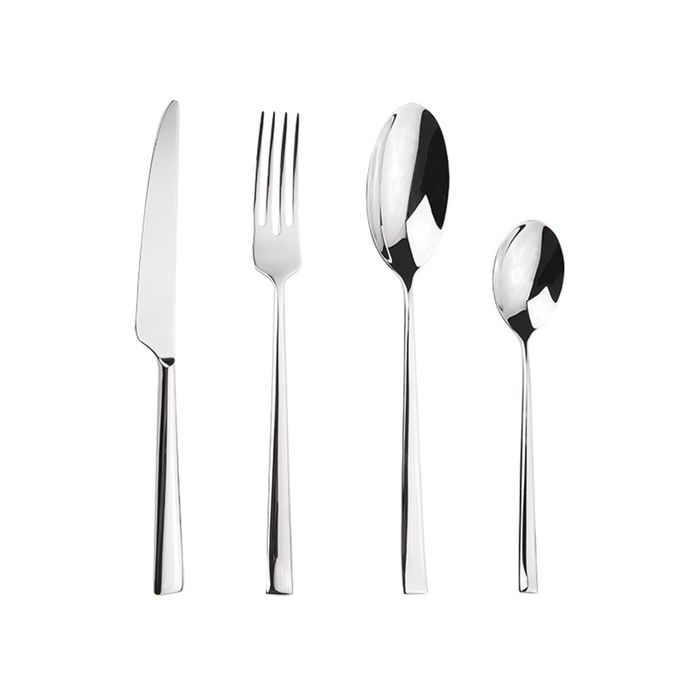Набор столовых приборов, 24 предмета: 6 чайных ложек, 6 ножей, 6 столовых ложек, 6 вилок фото