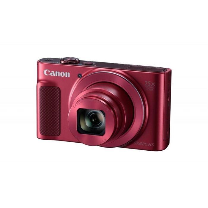 Фотоаппарат CANON PowerShot SX620 HS, красный, 20.2Mpix/CMOS/25x/SDHC/Full HD/Wi-Fi,NFC/3