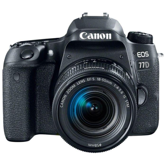 Зеркальный Фотоаппарат Canon EOS 77D, 24.2 Mpix, 1080 p, Full HD, SDXC Li-ion, черный фото
