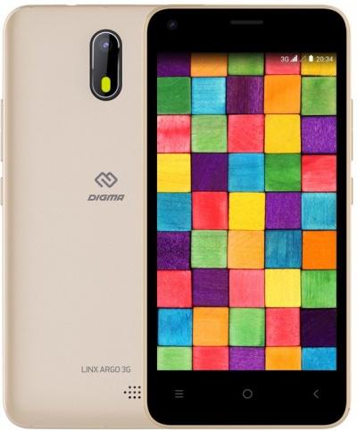 Смартфон Digma Linx A453 3G 8Gb золотистый фото