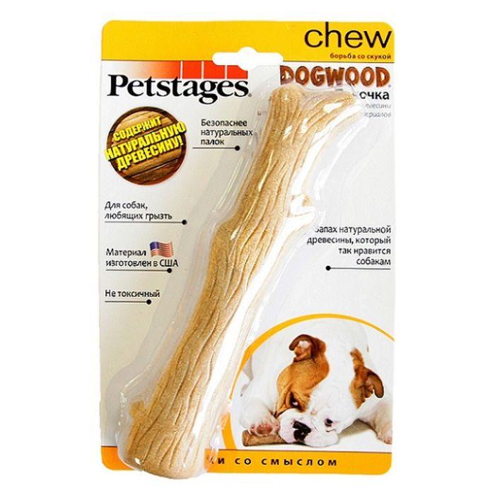 Игрушка Petstages Dogwood для собак, палочка деревянная, средняя фото