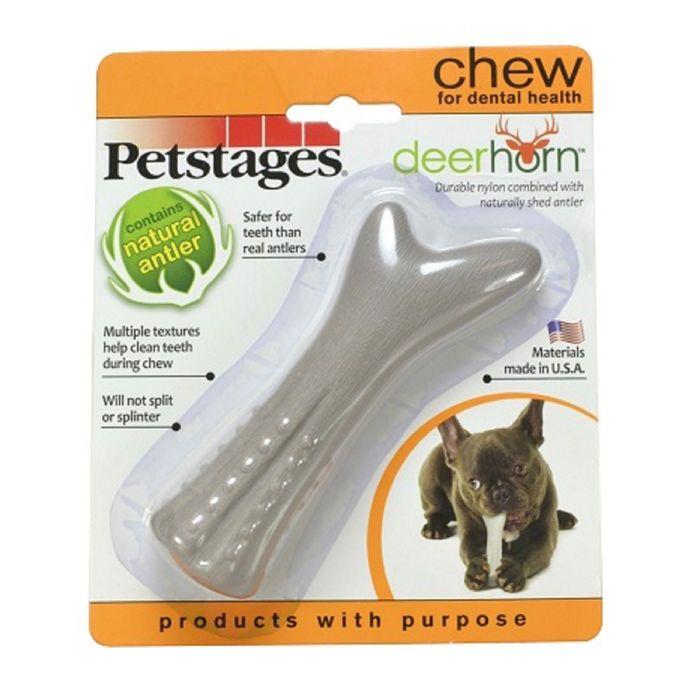 Игрушка Petstages Deerhorn для собак, с оленьими рогами, маленькая фото
