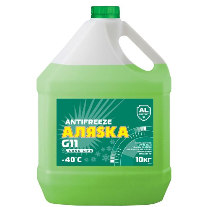 Антифриз Аляска Long Life G11, зеленый, 10 кг фото
