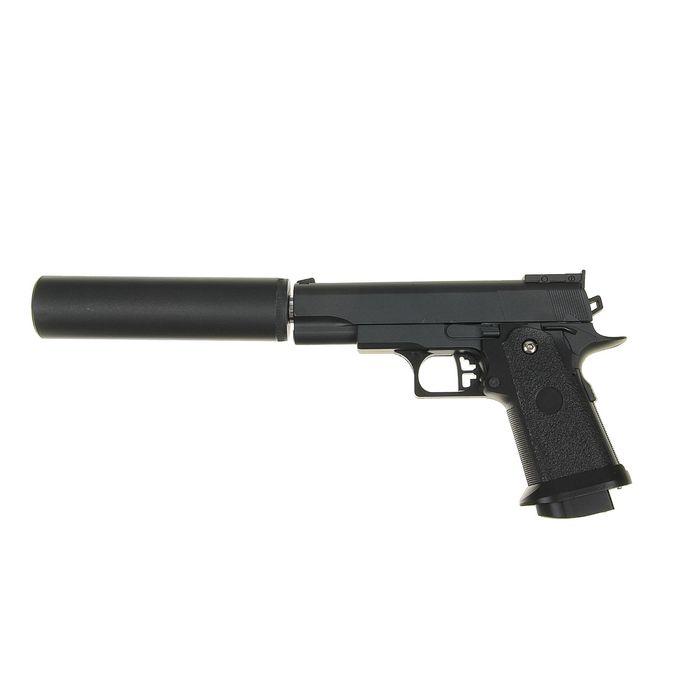 Пистолет пневматический пружинный Colt 1911PD G.10A с имитацией глушителя фото