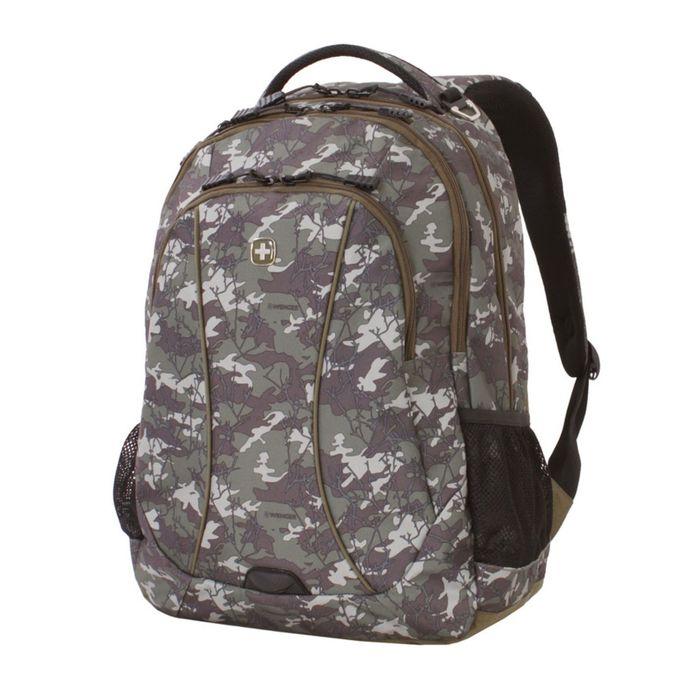 """Рюкзак WENGER,15"""", зеленый камуфляж, полиэстер, 900D, 48х37х19 см, 34 л фото"""
