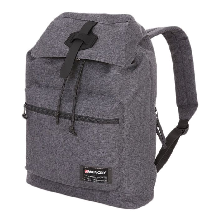 Рюкзак WENGER 13'', cерый, ткань Grey Heather/ полиэстер 600D PU , 29х13х40 см, 15 л фото