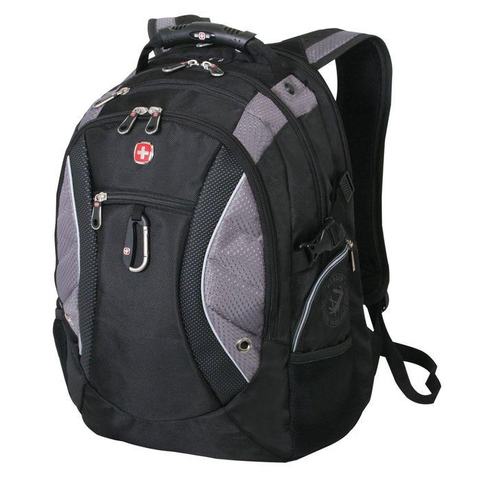 """Рюкзак WENGER, 15"""" , чёрный/серый, полиэстер 900D, 35х23х48 см, 39 л фото"""