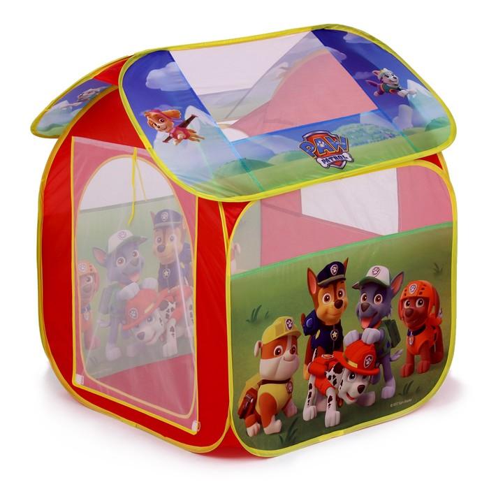 Детская игровая палатка «Щенячий патруль» в сумке фото