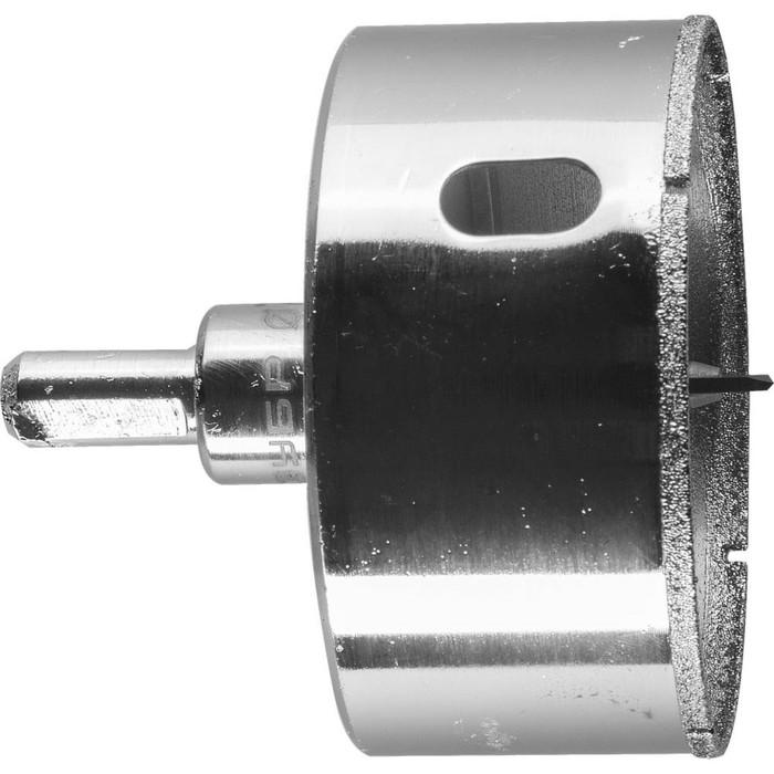 Коронка алмазная ЗУБР 29850-73, по кафелю и стеклу, d=73 мм, Р60, с центрирующим сверлом фото