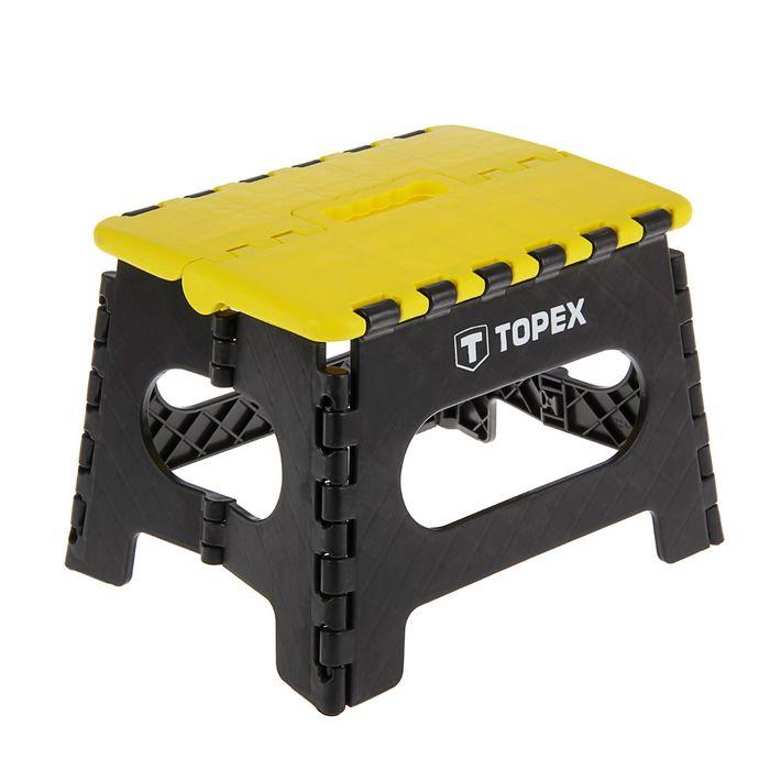 Табурет складной TOPEX, максимальная нагрузка 150 кг, высота 220 мм фото