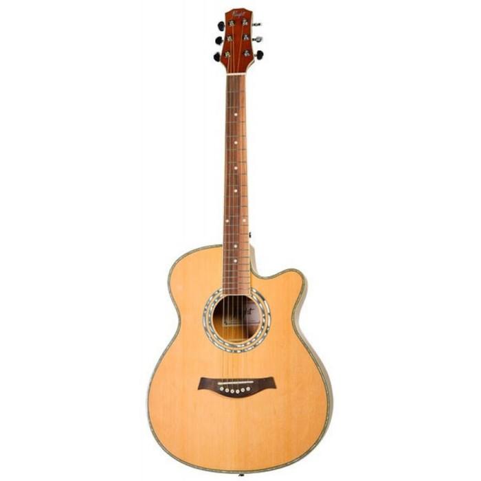 Гитара акустическая FLIGHT F-230C NA верхняя дека - ель, корпус - агатис, цвет натуральный фото