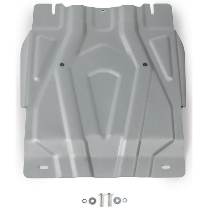 Защита КПП Rival для Fiat Fullback (V - 2.4d) 2016-н.в./Mitsubishi L200 (V - 2.4d; 2.4d H.P.) 2015-н.в./Mitsubishi Pajero Sport (V - 3.0; 2.4d) 2016-н.в., алюминий 4 мм, с крепежом, 333.4047.2 фото