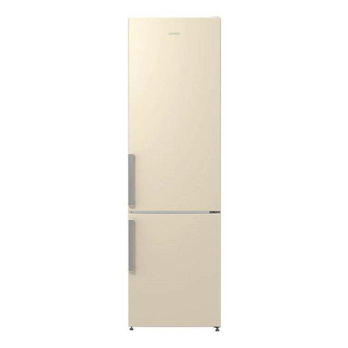 Холодильник Gorenje NRK6201GHC, класс А+, объем 339 л, двухкамерный, бежевый фото