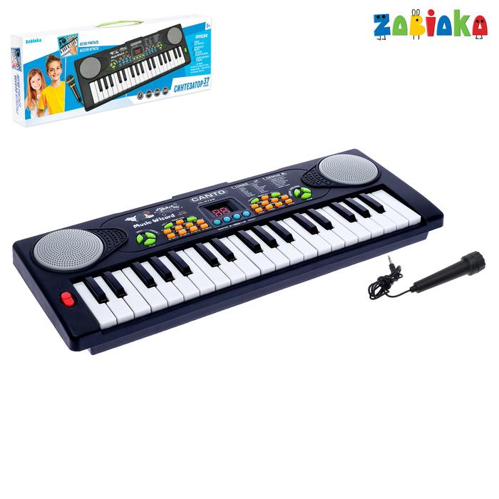 Синтезатор «Весёлые мелодии» с микрофоном, 37 клавиш фото