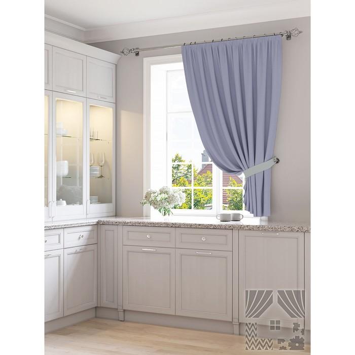 Портьера для кухни «Царлик», размер 150 × 180 см - 1 шт, голубой фото