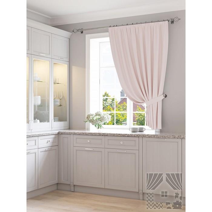 Портьера для кухни «Арехиме», размер 150 × 180 см - 1 шт, пастельно-розовый фото