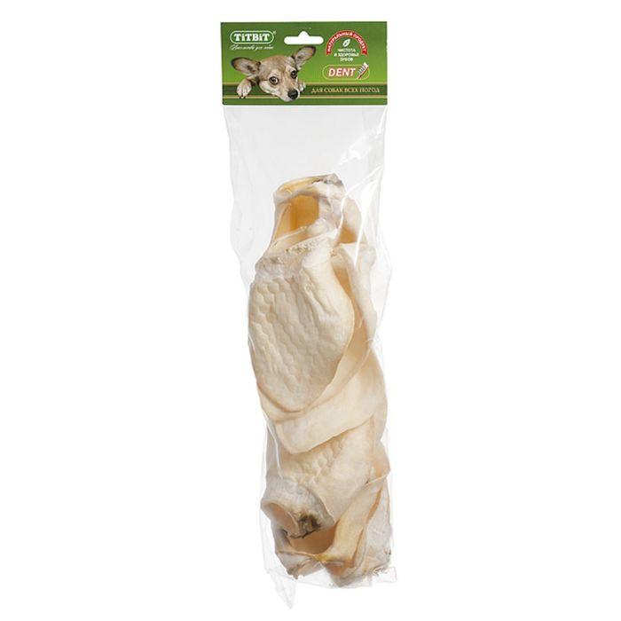 Лакомство для собак TitBit ухо телячье BIG, мягкая упаковка фото