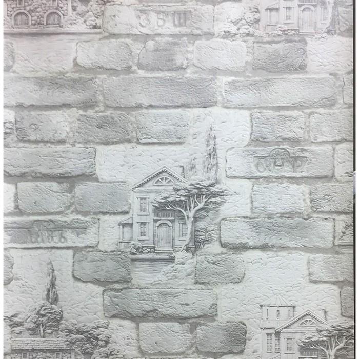 Обои виниловые на бумаге, моющиеся Маякпринт 582 316 11,Бристоль, серый, 0,53x10 м фото
