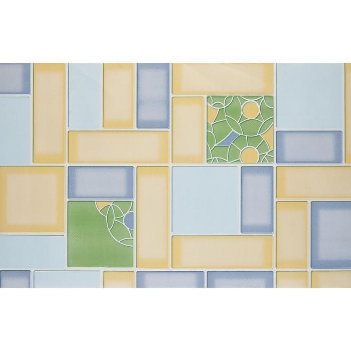 Обои бумажные, моющиеся Брянские обои Аксиома-1М желто-голубой, 0,53x10 м фото