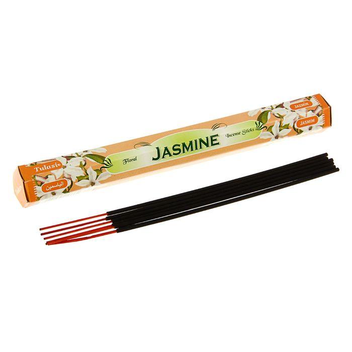 Благовония шестигранник Sarathi Жасмин Jasmine 20 палочек в упаковке фото