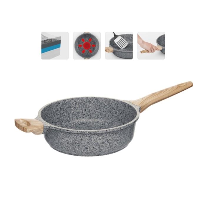 Глубокая сковорода с антипригарным покрытием, 24 см, NADOBA, серия MINERALICA фото