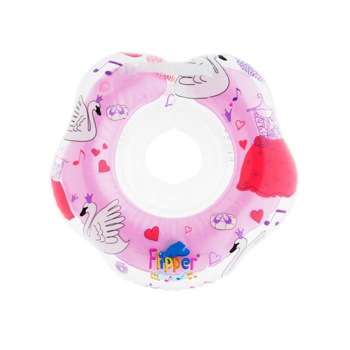 Круг на шею с музыкой «Лебединое озеро», от 0 мес., цвет розовый Flipper фото