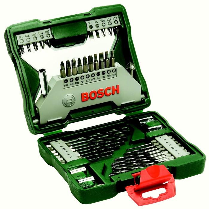 Набор сверл и бит Bosch 2607019613, 43 шт., 16 сверл, 20 бит, торцевые ключи, зенкер фото
