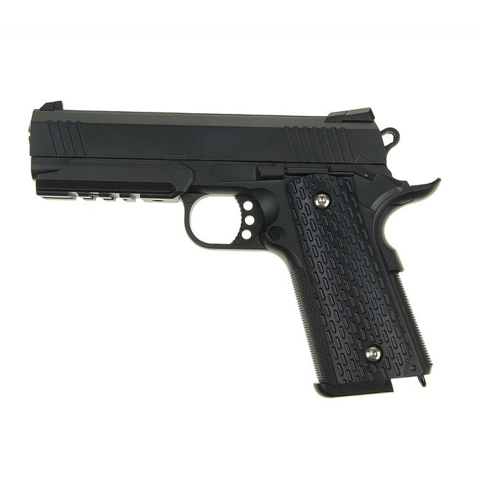 Пистолет пневматический пружинный Colt 1911PD Rail G.25 фото