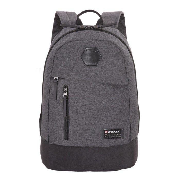 Рюкзак Wenger 13, cерый, ткань Grey Heather/полиэстер, 600D PU, 45 х 16 х 32 см, 22 л фото
