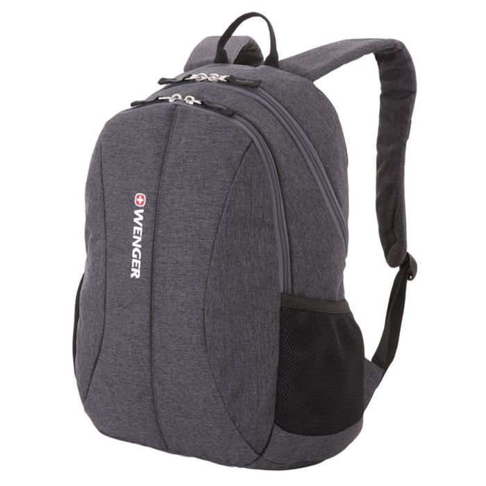Рюкзак Wenger 13, cерый, ткань Grey Heather/полиэстер, 600D PU, 45 х 16 х 33 см, 23 л фото