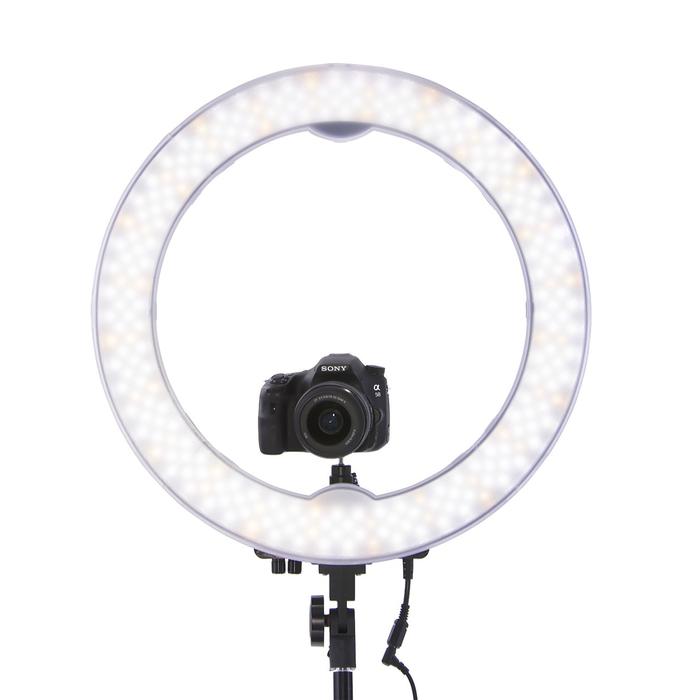 Кольцевая лампа OKIRA LED RING 240, 28 Вт, 240 светодиодов, d=35 см, черная фото