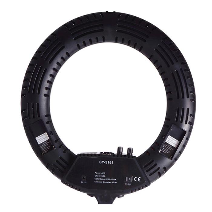 Кольцевая лампа OKIRA LED RING DAR 480, 48 Вт, 480 светодиодов, d=45 см, черная фото