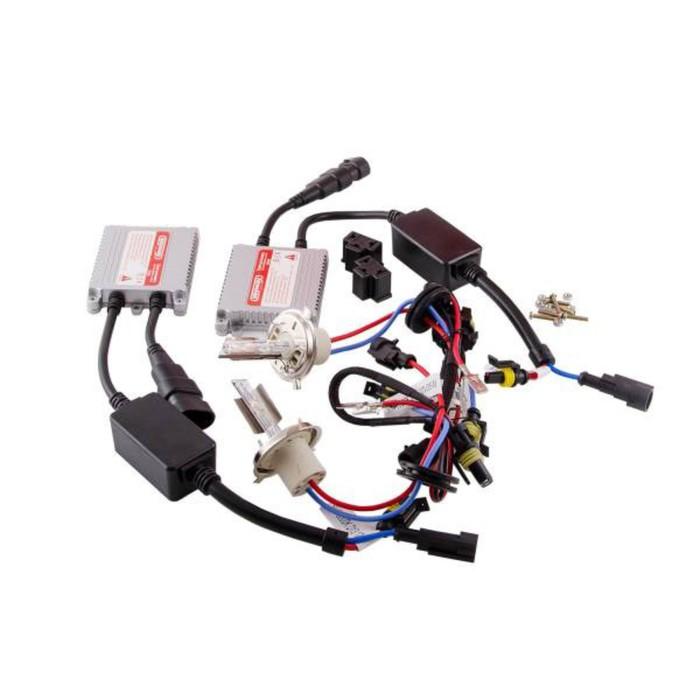 Автолампа ксенон H4 12V 35W 5000K Skyway комплект 2 шт + провод+блок розжига фото