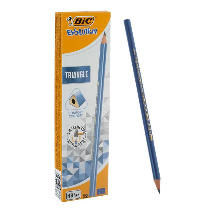 Карандаш чернографитный BIC HB Evolution Triangle, пластиковый, трехгранный фото