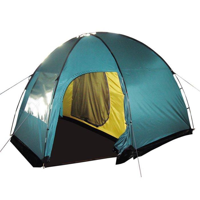 Tramp палатка Bell 3 (V2), цвет зелёный фото