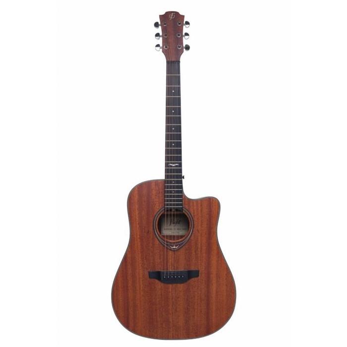 Акустическая гитара FLIGHT D-165C SAP с вырезом, цвет сапеле фото