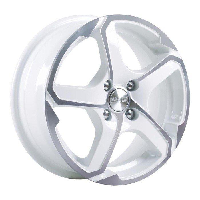 Диск литой SKAD Аллигатор 6x15 5x114.3 ET38 d67.1 алмаз белый фото