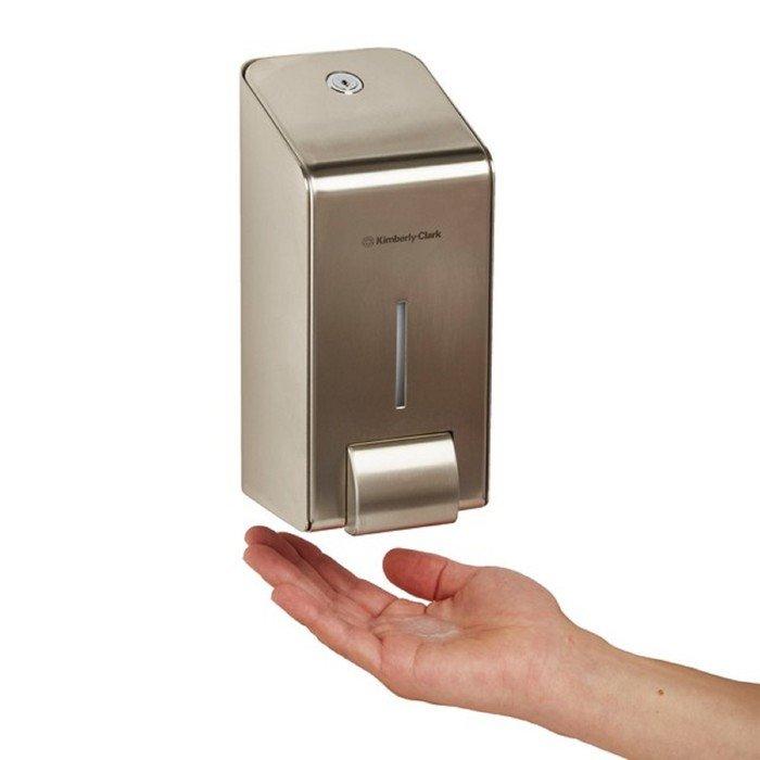 Диспенсер с металлическим корпусом Kimberly-Clark Profeccional для мыла в картриджах фото