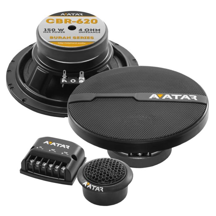 Акустическая система Avatar CBR-620, 16.5 см, 150 Вт, набор 2 шт фото