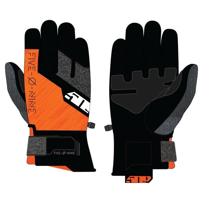 Перчатки 509 Freeride с утеплителем, оранжевый, чёрный, XS фото